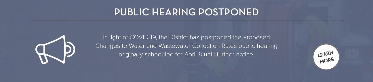 April 8 Public Hearing postponed until further notice