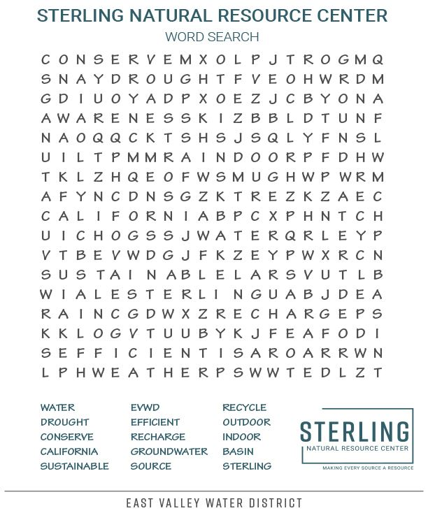 SNRC Word Search